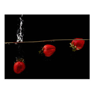 Strawberries in Water Postcard