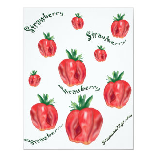 Strawberries Invite