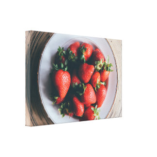 Strawberries Kitchen Wall Art Canvas