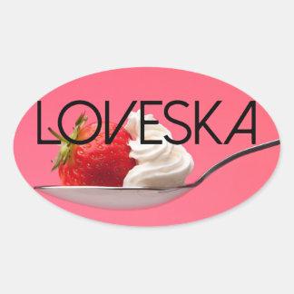 Strawberries & Kream Loveska Sticker