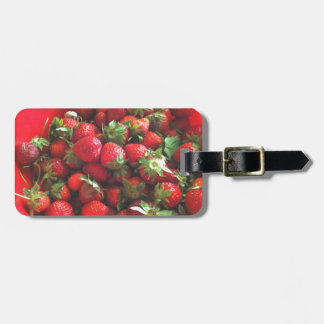 Strawberries Luggage Tag