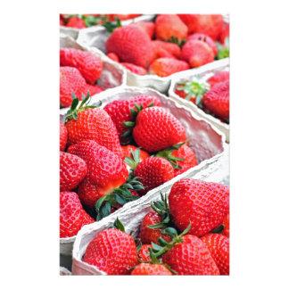 Strawberries market personalised stationery