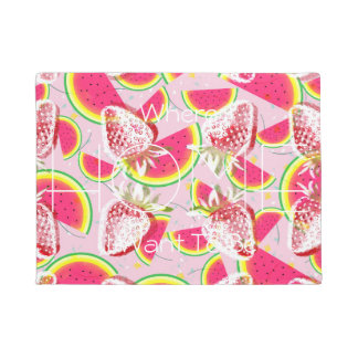 Strawberries Melon Fiesta Pattern Doormat