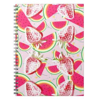 Strawberries Melon Fiesta Pattern Notebook