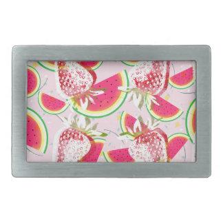 Strawberries Melon Fiesta Pattern Rectangular Belt Buckles