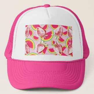 Strawberries Melon Fiesta Pattern Trucker Hat