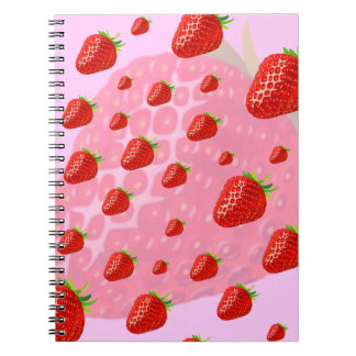 Strawberries notebook. notebook