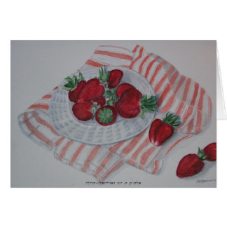 Strawberries on... - card