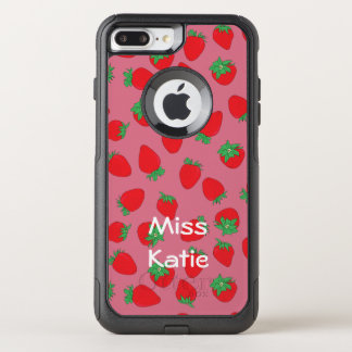 Strawberries on Pink OtterBox Commuter iPhone 8 Plus/7 Plus Case