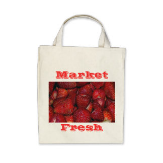Strawberries-Organic Grocery Tote Tote Bag