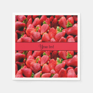 Strawberries Paper Napkins