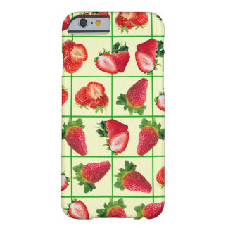 Strawberries pattern barely there iPhone 6 case