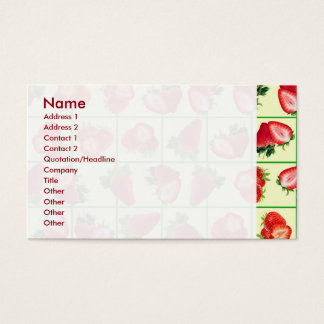 Strawberries pattern business card