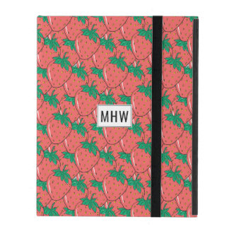 Strawberries Pattern custom monogram device cases