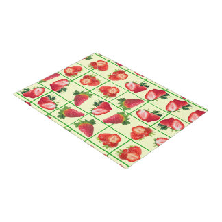 Strawberries pattern doormat