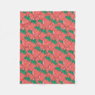 Strawberries Pattern fleece blankets