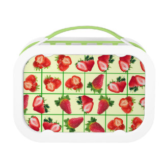 Strawberries pattern lunch box