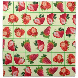 Strawberries pattern napkin