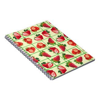 Strawberries pattern notebook