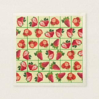 Strawberries pattern paper serviettes