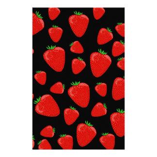 Strawberries pattern personalised stationery
