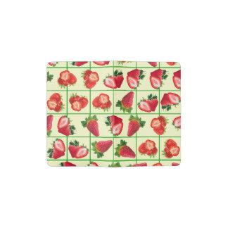 Strawberries pattern pocket moleskine notebook