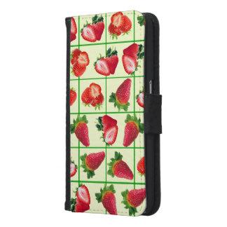 Strawberries pattern samsung galaxy s6 wallet case