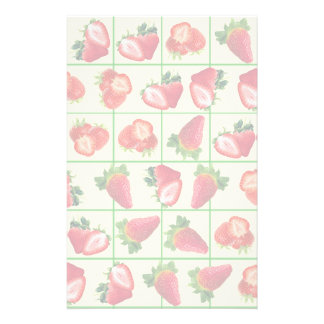 Strawberries pattern stationery