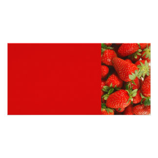 Strawberries Photo Card Template