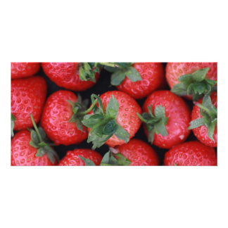 Strawberries Photocard Personalized Photo Card