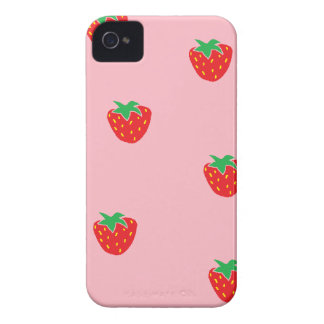 Strawberries Pink iPhone 4 Covers
