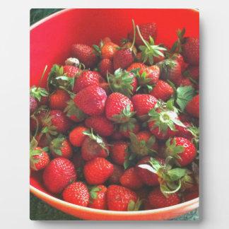 Strawberries Plaque