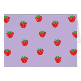 Strawberries Purple Card
