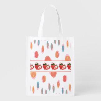 Strawberries Reusable Grocery Bag