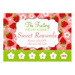 Strawberries Rewards Promo Punch Card