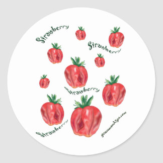 Strawberries Round Sticker