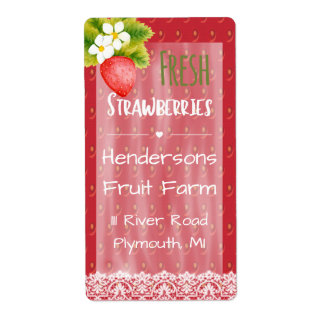 Strawberries Shipping Label