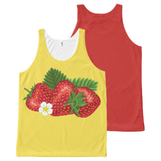 STRAWBERRY-3 All-Over PRINT SINGLET