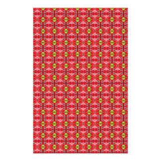 Strawberry abstract pattern stationery