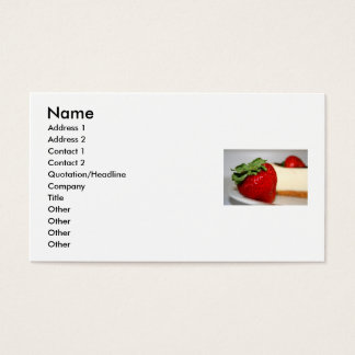 Strawberry And A Cheesecake Business Card