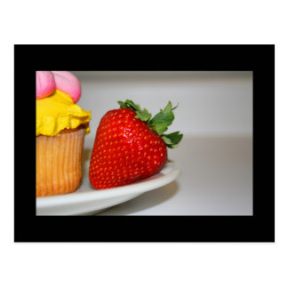 Strawberry And A Muffin Postcard