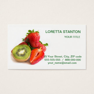 Strawberry and kiwi business card