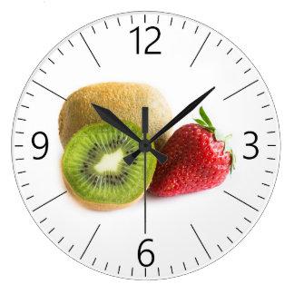 Strawberry and kiwi large clock
