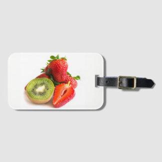 Strawberry and kiwi luggage tag