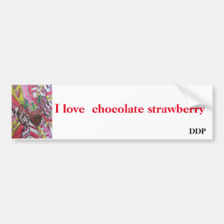 Strawberry  art bumper sticker