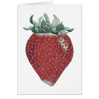 Strawberry Art Greeting Card