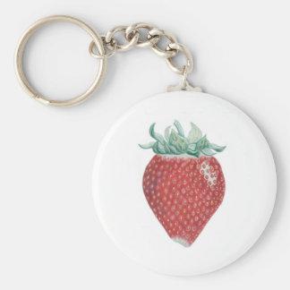 Strawberry Art Key Chain
