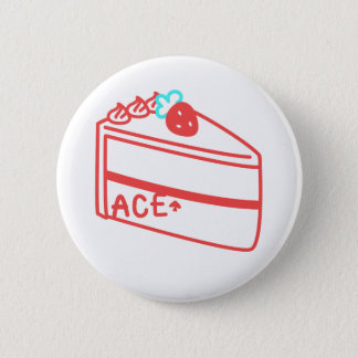Strawberry Asexual Cake 6 Cm Round Badge