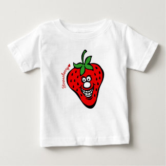 Strawberry *Baby White Tee