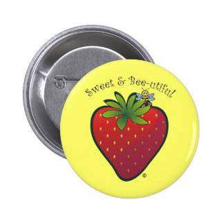 Strawberry Pinback Buttons